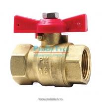 Brass ball valve buterfly handle